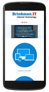 responsive website ontwerp voor mobiel gebruik