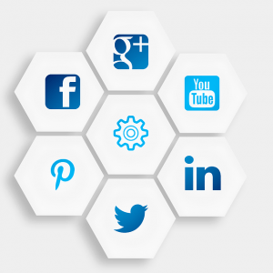 Social Media buttons facebook google linkedin