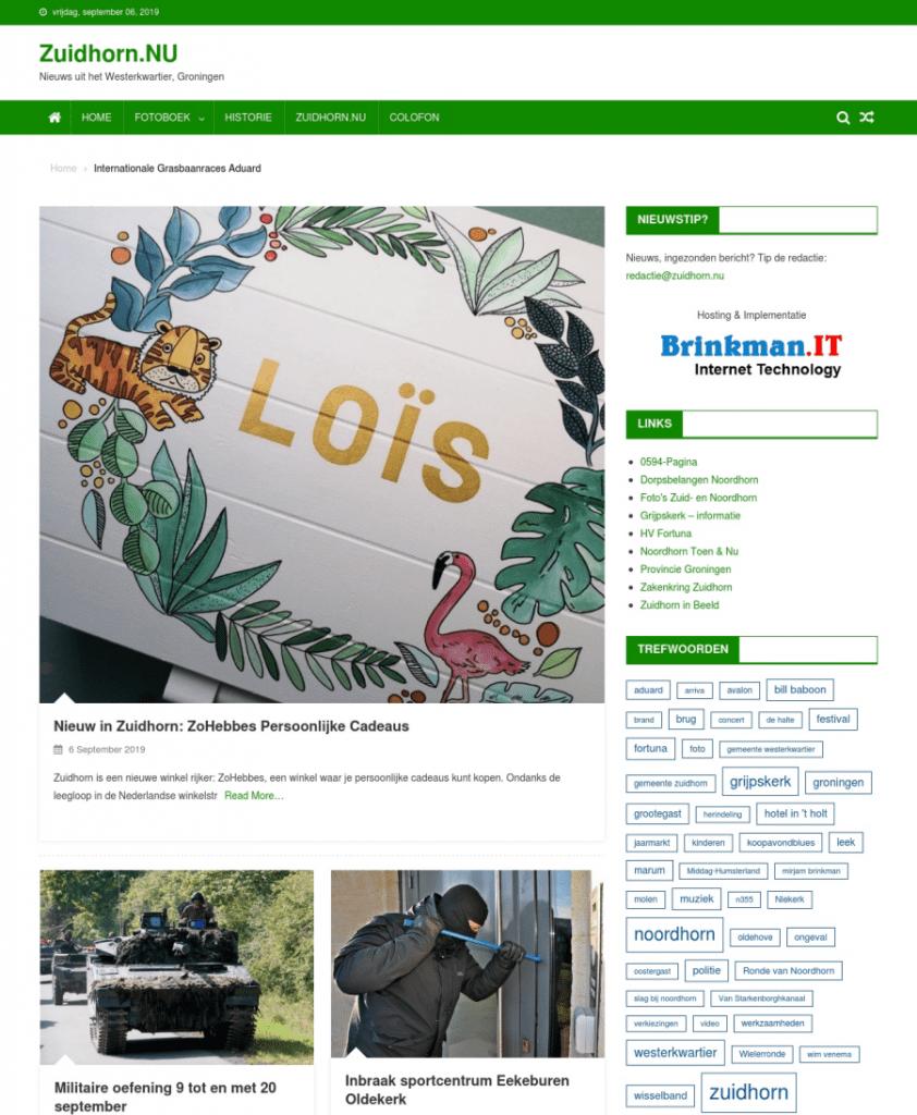 website zuidhorn.nu regionaal nieuws