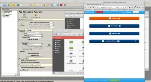 database of gegevens via internet app beschikbaar stellen aan medewerkers
