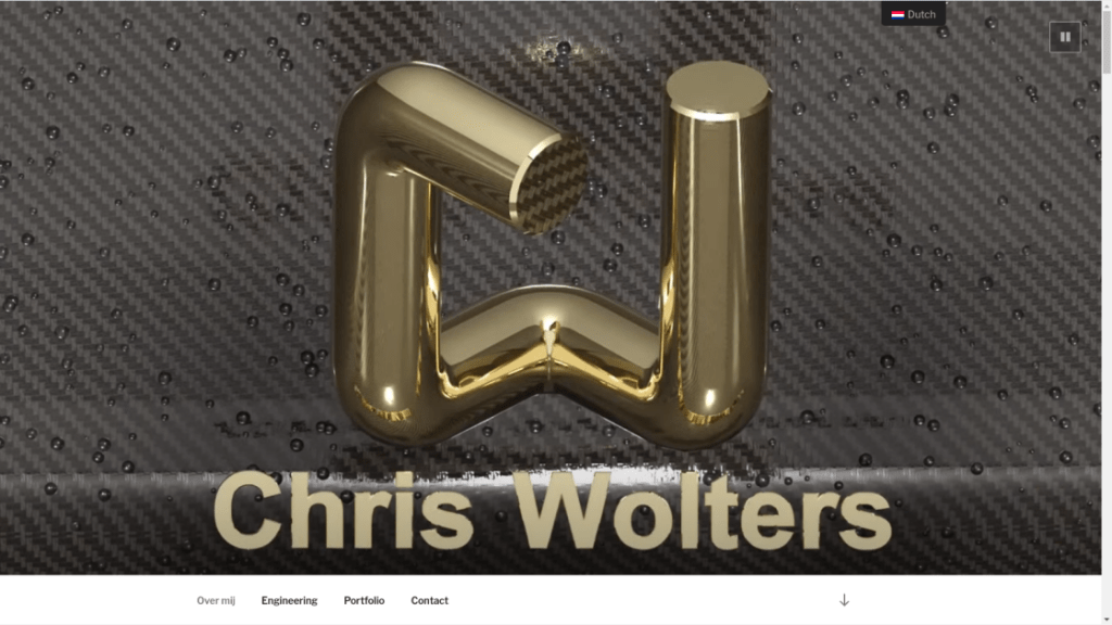 Chris Wolters Wordpress website ontwikkeling