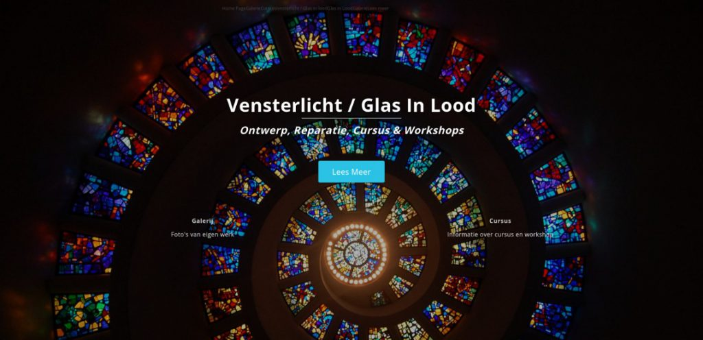 Vensterlicht Glas in Lood Website
