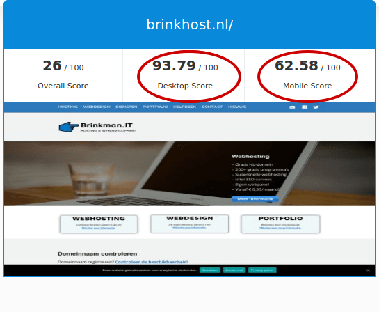 Brinkhost WordPress geoptimaliseerd SEO gratis google website seo check