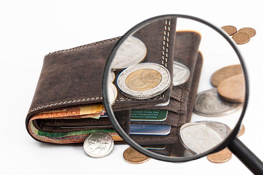 Geldzaken Beurs Euro portefeuille