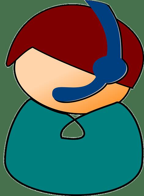 helpdesk en handleidingen callcenter headset Afbeelding van Clker-Free-Vector-Images via Pixabay