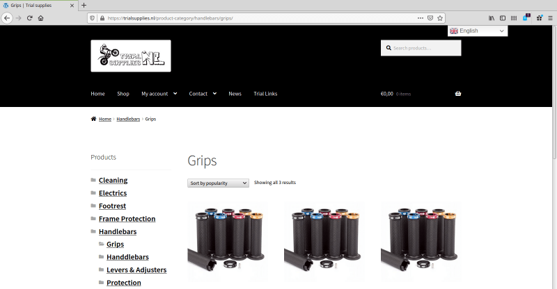 trialsupplies webshop woocommerce