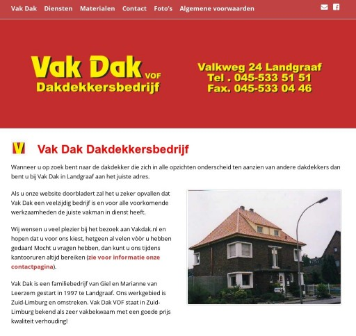 Vak Dak Website Joomla naar Wordpress