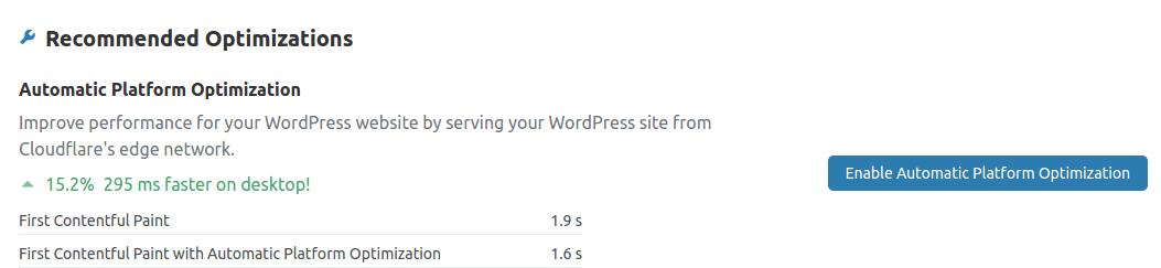 Cloudflare APO gebruiken