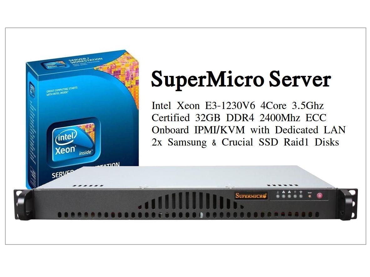 SuperMicro Intel Xeon E3 Server
