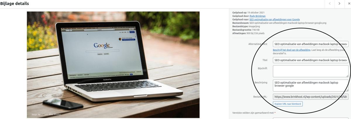 SEO optimalisatie van afbeeldingen in WordPress voor google