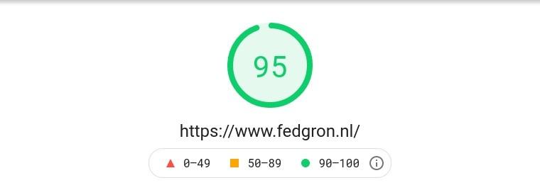 Federatie Groningen test Pagespeed Google